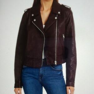 NWT Bagatelle Pebble Faux-leather Biker Jacket L